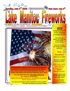 2016 Lake Manitou Fireworks Flyer