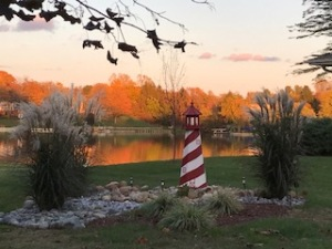 Photo taken by Diane Cerveny. Golden Fall colors at sunset.